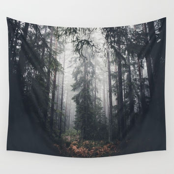 Dark paths Wall Tapestry by HappyMelvin