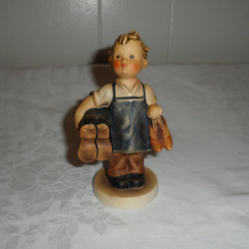 "1960s Vintage M. I. Hummel Figurine ""Boots/Shoemaker""  743-0 Tmk 3 Full Bee/5"" West German Hummel Figurine Highly Collectible/Best Condition"