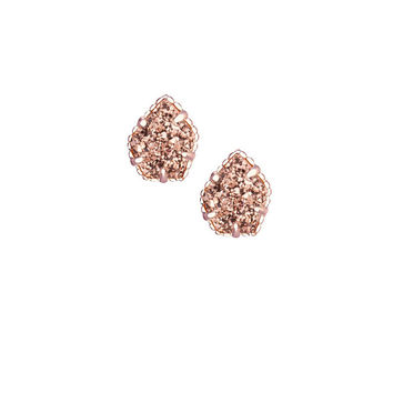 Kendra Scott Tessa Stud Earrings in Rose Gold Drusy