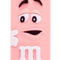 Pink M&M Silicone iPhone 5 & 5S Case