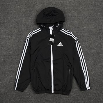 Unisex Adidas Essential Cotton Fleece Full Zip Jacket