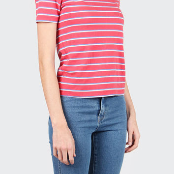 Saturday Stripe T-Shirt - faded coral