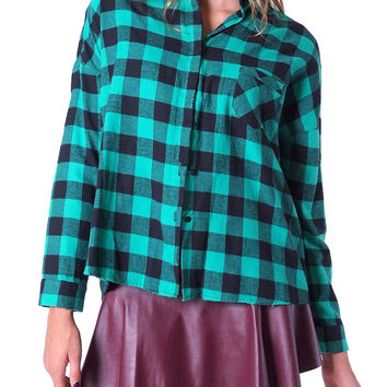 Tartan World Plaid Shirt - Jade/Black