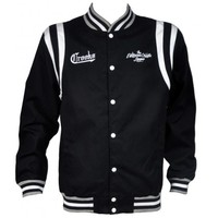 Crooks & Castles 135.00 Crooks & Castles NCL Bastards Baseball Jacket in Black
