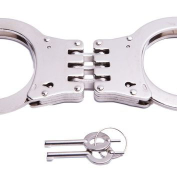 UZI Handcuff Hinged Double-Lock St. Steel