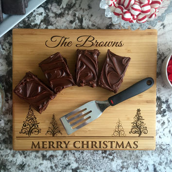 Personalized 11x13 Christmas Bamboo Cutting Boards – 3 Designs!