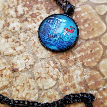 Doctor Who Meets Ariel Pendant Necklace
