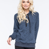 Full Tilt Essential Marled Womens Pullover Hoodie Blue  In Sizes