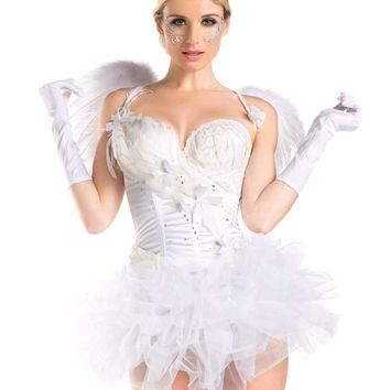 Be Wicked Costume 2 Piece  2 for 1 WHITE SWAN / ANGEL