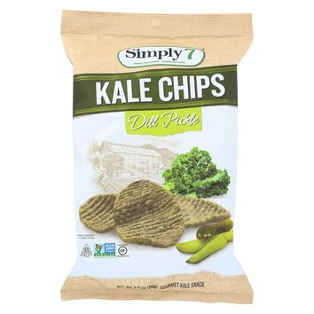 Simply 7 Kale Chips - Dill Pickle - Case Of 12 - 3.5 Oz.