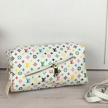 LV Louis Vuitton Women Fashion New Leather Monogram Cream Check Shoulder Bag Crossbody Bag