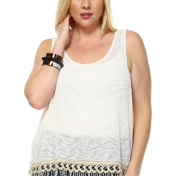 Plus Size Fringe Top
