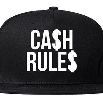 Kings of NY CASH RULES Printed Snapback Everything Around Me Cap Hat
