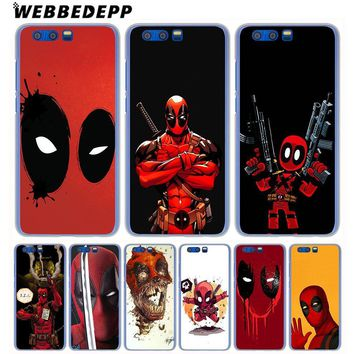 Deadpool Dead pool Taco WEBBEDEPP Marvel  Comic Spiderman Phone Case for Huawei Honor Play 9 8 Lite 10 9i 7X 6A 6C 7A Pro 2GB Note 10 Cover AT_70_6