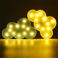 Cute Cloud LED Night Light Wall Battery Lamp Baby Kids Bedroom Home Decor