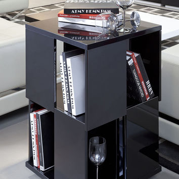 Modern Black Magazine Rack