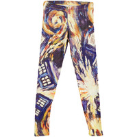 Doctor Who Women's  Van Gogh Leggings Multi