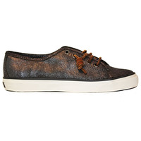 Sperry Top-Sider Seacoast - Metallic Pewter Leather Boat Sneaker