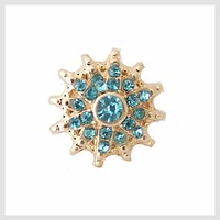 Turquoise and Gold Burst 12mm Mini