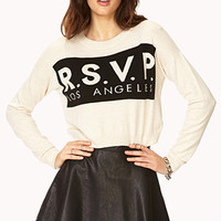 Statement-Making Cropped Sweater