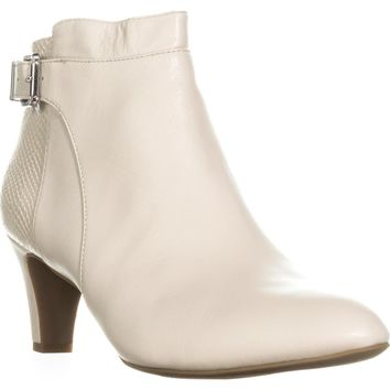 A35 Viollet Ankle Booties, Ivory Leather, 11 US