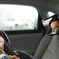 DaffaDoot Back Seat Mirror - Extra Large Baby Rear Seat Mirror - Two Free Bonus Gifts - Superior View, Shatterproof, *Crash-Tested* & Certified - Beautiful Gift Box - Perfect Pivot for Perfect View of Baby - Backed by our 100% Satisfaction Guarantee