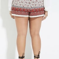 Plus Size Floral Shorts | Forever 21 PLUS - 2000185458
