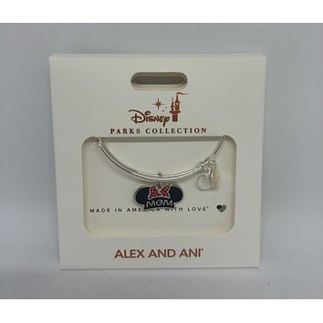 Disney Alex and Ani Parks Minnie Ear Hat Mom Bangle Silver Finish New