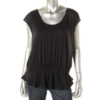 Calvin Klein Performance Womens Modal Blend Peplum Tank Top