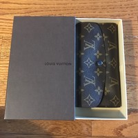 AUTHENTIC LOUIS VUITTON MONOGRAM EMILIE WALLET BLUE
