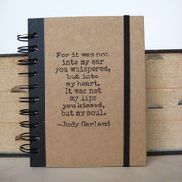 Love Journal Quote Notebook Judy Garland Diary Blank Book by zany