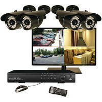 "Security Labs 19"" Led Monitor & 4-channel Dvr With 4 Bullet Cameras"