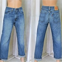 Vintage Levis 505 jeans / 31 X 30 size 7 / 8/ high waisted / straight leg / Mens  Womens
