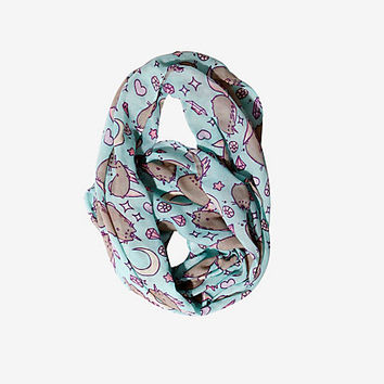 Pusheen Unicorn & Moon Print Viscose Infinity Scarf