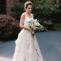 Modern 2 Pieces Wedding Dress Boho Bridal Dress Custom Size 2 4 6 8 10 12