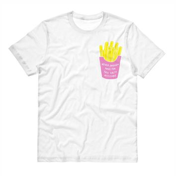 Salty Attitude Fries Pocket Design Shirt