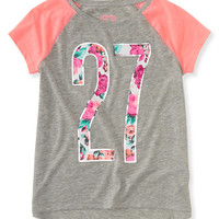 Kids' Activate Floral 27 Raglan Graphic T