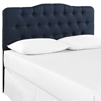 Annabel Queen Fabric Headboard Navy