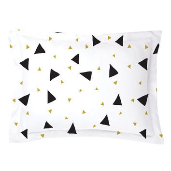 Confetti Triangles Pillow Shams