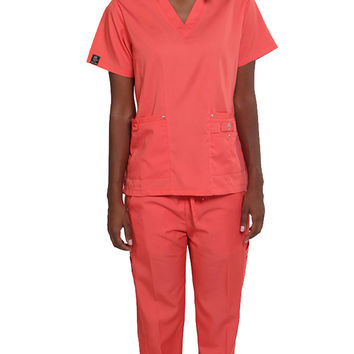 Women's 10 Pocket Slim Fit Uniform Scrubs