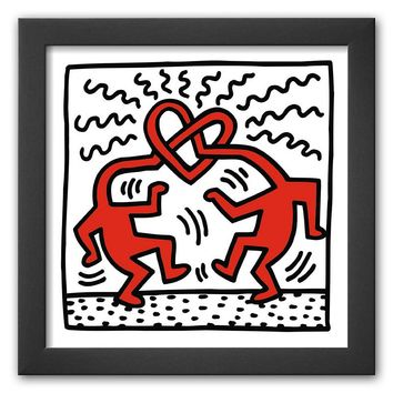 Art.com ''Untitled, c.1989'' Framed Art Print by Keith Haring