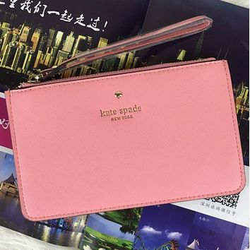 Kate Spade Fashion Zipper Wrist Bag Handbag Wallet Pink I