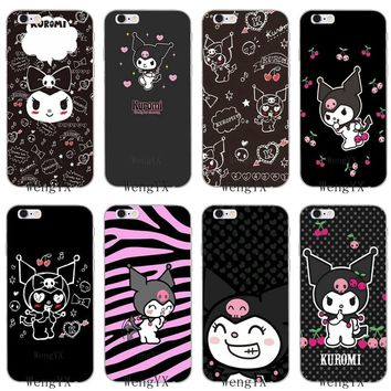 black pink cute kuromi Hello Kitty silicone Soft phone case For Samsung Galaxy S3 S4 S5 S6 S7 edge S8 S9 Plus mini Note 3 4 5 8