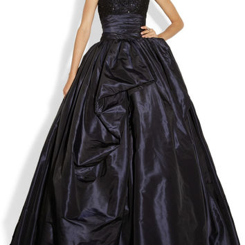 Marchesa|Embellished lace and silk-taffeta gown|NET-A-PORTER.COM