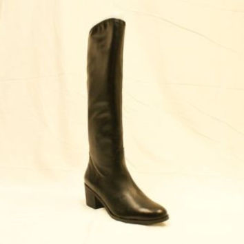 NEW SAM EDELMAN LOREN Women Hot Leather Low Heel Knee High Western Boots Black