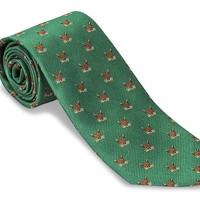 Green Fox Mask Necktie - F2005
