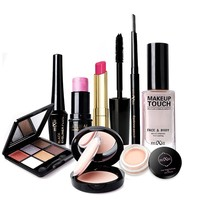 Makeup Set 1 Eye Shadow  Eyeliner Liquid  Eyebrow Pencil  Mascara  Powder Cake Foundation Lipstick Blush Concealer Maquiagem
