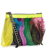 Betsey Johnson Neon Feather Crossbody | Dillards.com