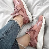 Nike Air Huarache Pink Fashion Women Casual Running Sport Shoes2