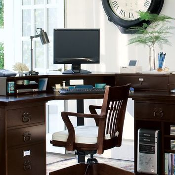 BEDFORD SMART TECHNOLOGY™ CORNER DESK HUTCH